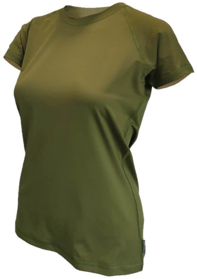 Koszulka T-shirt termoaktywna damska Haasta Raglan Olive