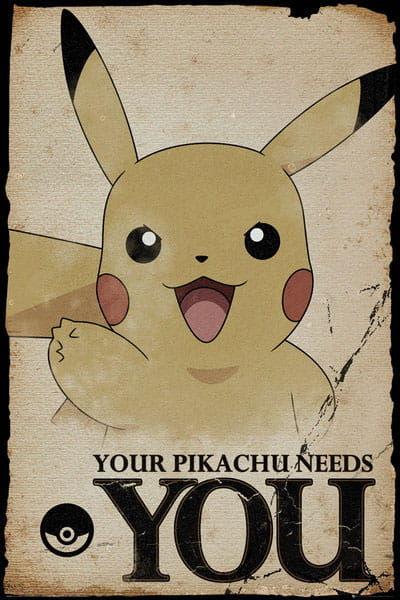 Plakat - Pikachu Needs You