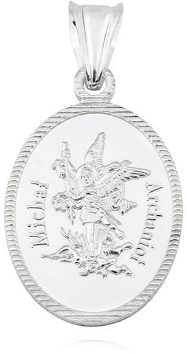 Srebrny medalik diamentowany Michał Archanioł