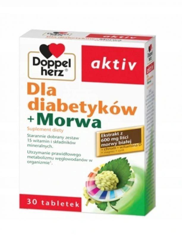 DOPPEL HERZ AKTIV dla diabetyków +morwa 30 tabl.
