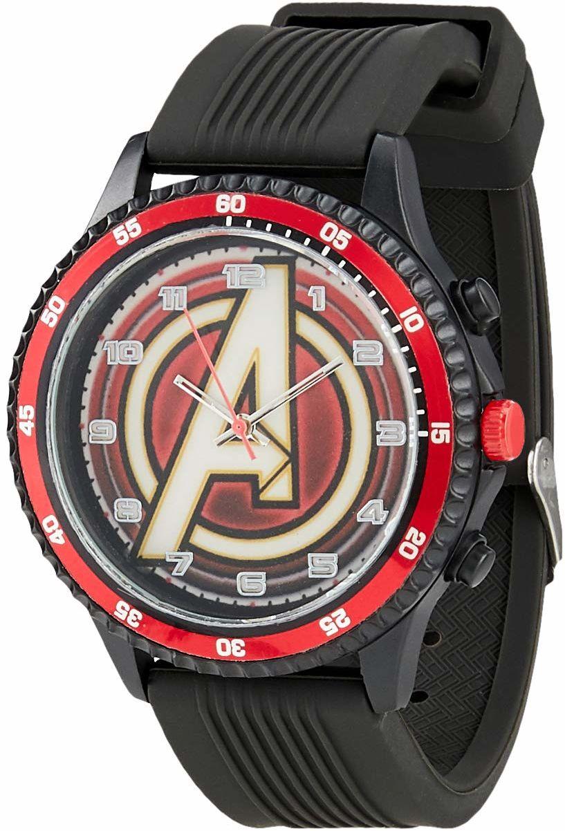Kid Licensing - Analogowy zegarek na rękę Avengers Nauka, wielokolorowy (MV15784)