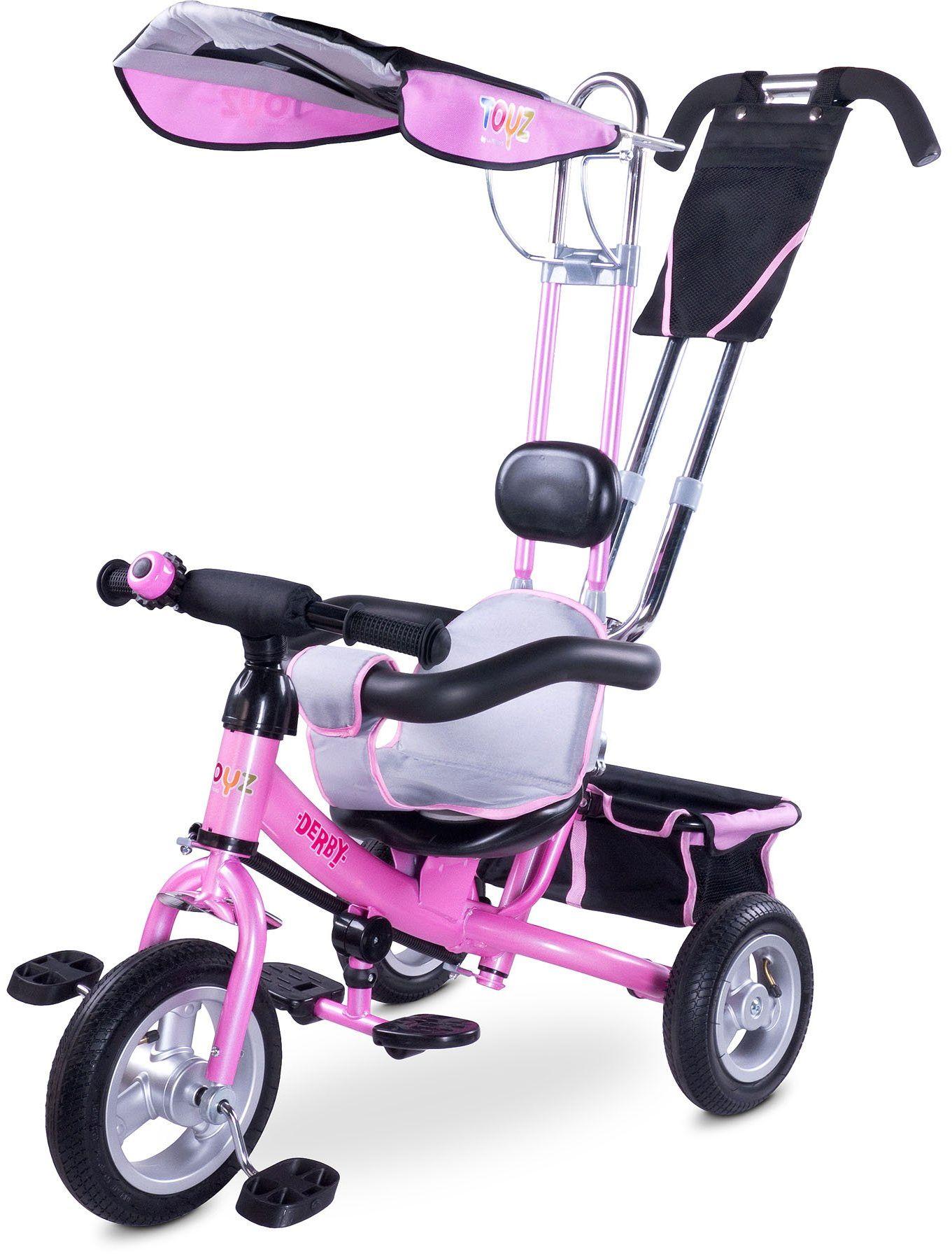 Toyz Derby, 3 w 1 wielofunkcyjny rower trójkołowy, różowy