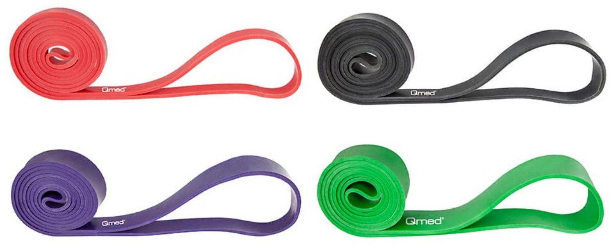 Certyfikowana taśma oporowa w kształcie pętli Qmed - długa guma do ćwiczeń i rehabilitacji - Power Band - wyrób medyczny (Qmed Resistance Band)