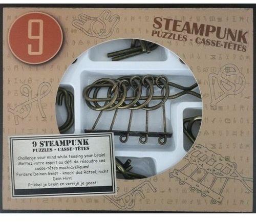 Łamigłówki metalowe 9 sztuk Steampunk zestaw brązowy ZAKŁADKA DO KSIĄŻEK GRATIS DO KAŻDEGO ZAMÓWIENIA