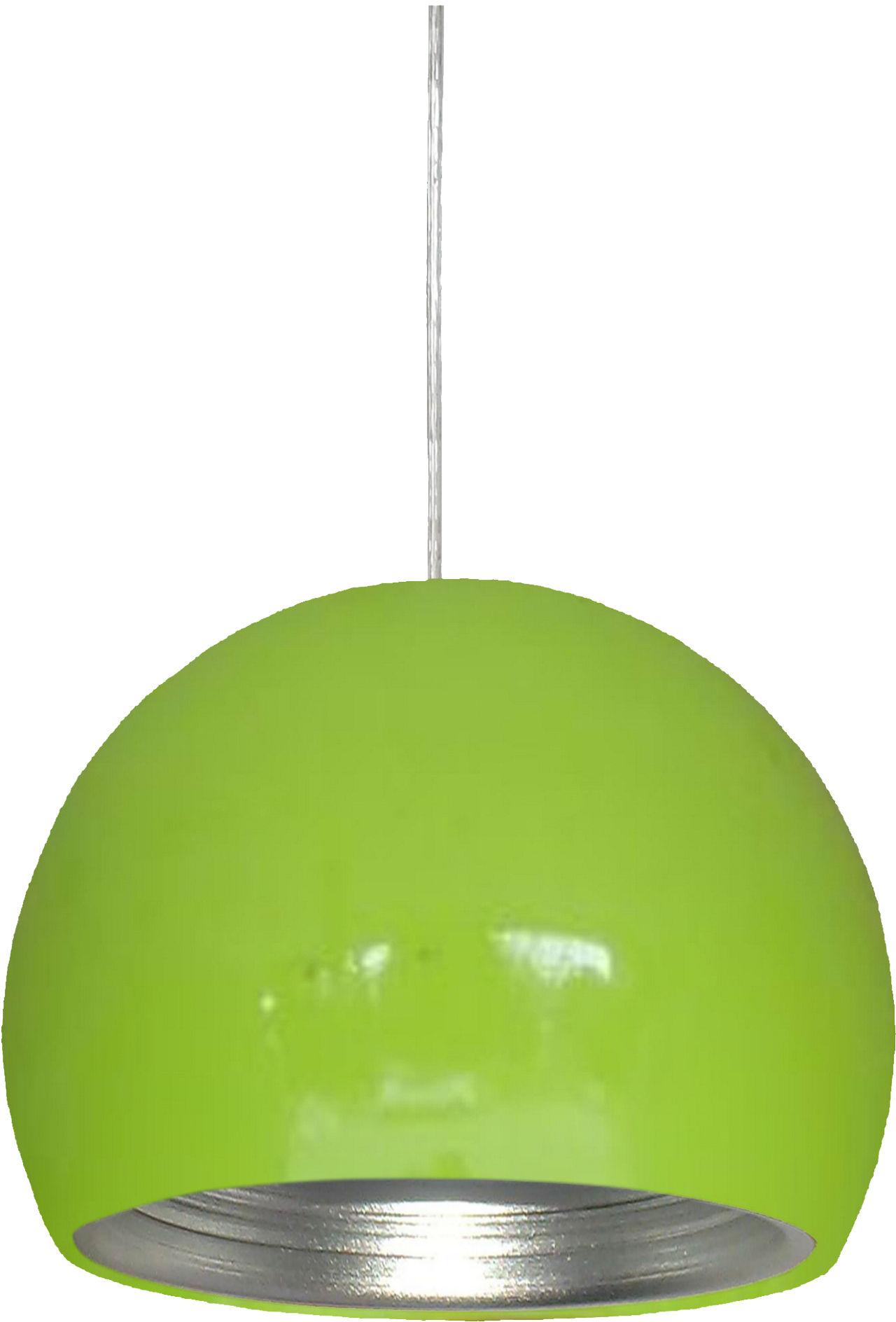 Candellux PICTOR 31-24930 lampa wisząca 1X60W E27 metalowy półkulisty klosz zielony/srebrny z odbłyśnikiem 25 cm