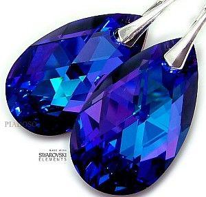 Kryształy piękne duże kolczyki HELIO 28MM SREBRO