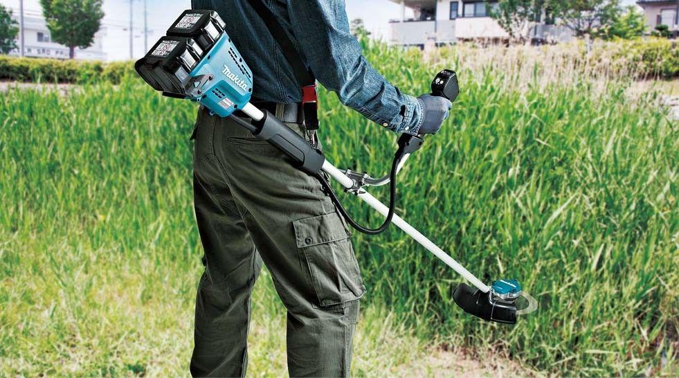 akumulatorowa podkaszarka do trawy 35cm, 2x18V Li-Ion, 2x5,0Ah, LXT Makita [DUR368LZ] + odkurzacz