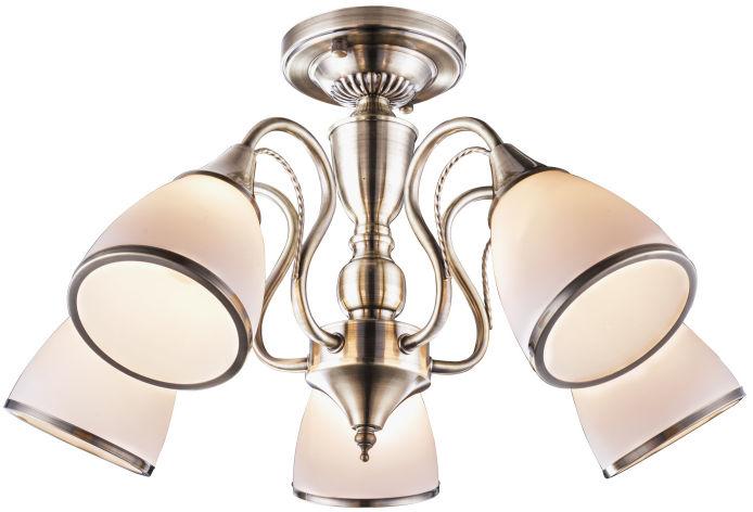 Globo COMODORO 54706-5 plafon lampa sufitowa antyczny mosiądz 5xE14 60W 54cm