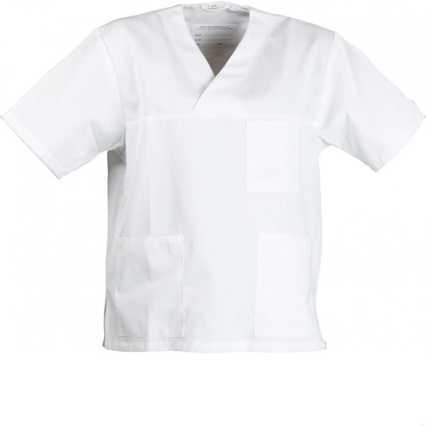 Bluza medyczna uniwersalna, biała