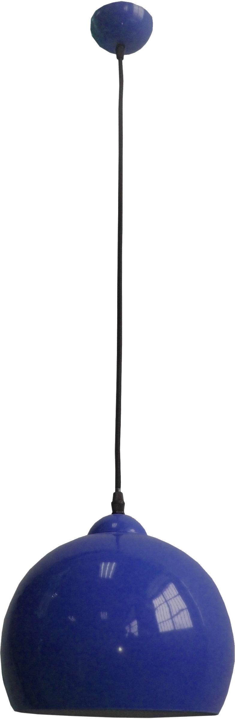Candellux STUDENT 31-96657 lampa wisząca metalowy półkulisty klosz chabrowy 1X60W E27 25 cm
