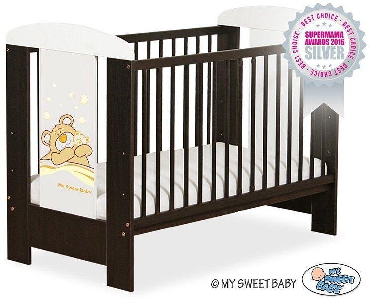 Łóżeczko drewniane Miś Barnaba kremowy, 500504804-My Sweet Baby