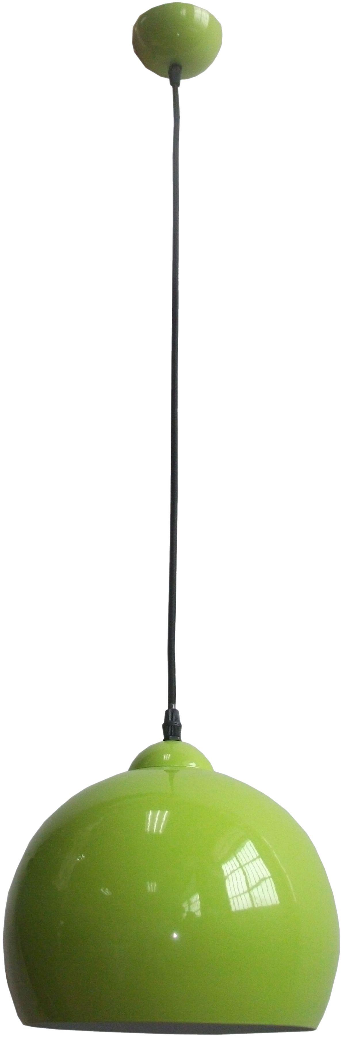 Candellux STUDENT 31-96664 lampa wisząca metalowy półkulisty klosz pistacja 1X60W E27 25 cm