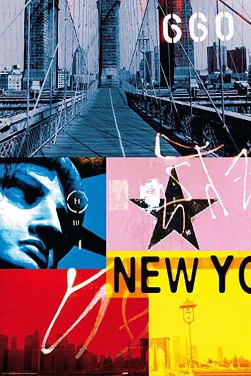 Nowy Jork kolaż plakat z akcesoriami