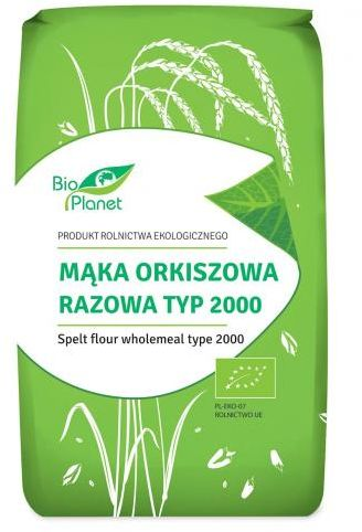 Mąka orkiszowa razowa typ 2000 BIO 500g Bio Planet