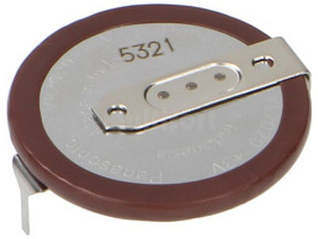 Akumulator PANASONIC VL-2020/HFN 3V 20mAh 2pin fi20x2,7mm -20 60 C