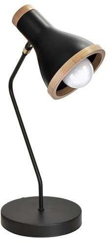 Lampa stołowa HOLLY BLACK / WOOD 1xE27 60W