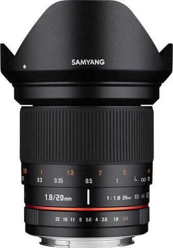 Samyang 20mm F1.8 ED AS UMC - obiektyw stałoogniskowy do Nikon F Samyang 20mm F1.8 ED AS UMC