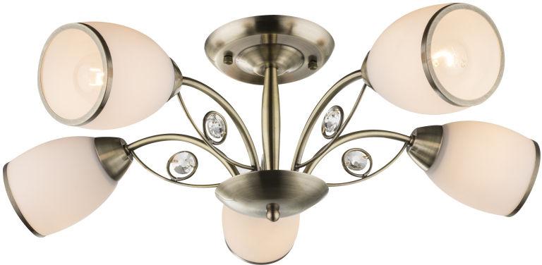 Globo COMODORO II 54708-5 plafon lampa lampa sufitowa antyczny mosiądz 5xE27 40W 58cm