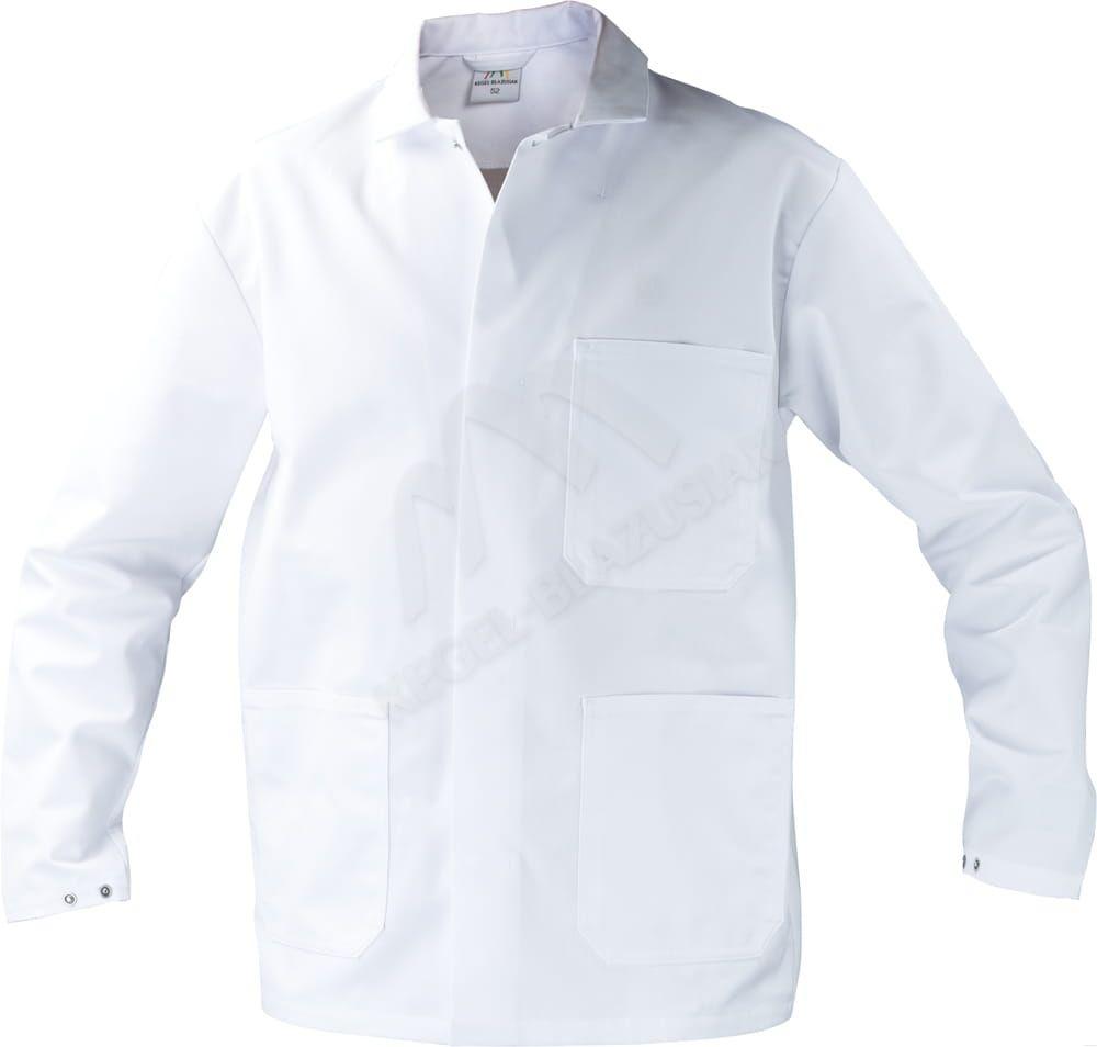 Długa bluza męska medyczna, biała