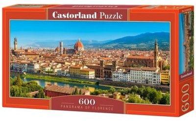 Puzzle Castor 600 - Panorama Florencji, Panorama of Florence