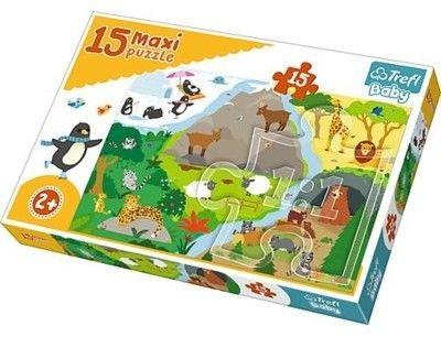 Puzzle dla dzieci Trefl 15 MAXI - Zwierzątka i ich domy, Animals houses