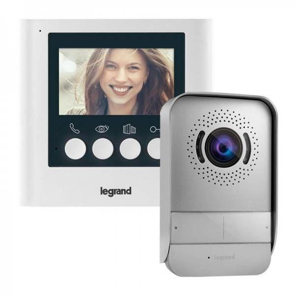 """Zestaw wideodomofonowy z ekranem 4,3"""" 1-rodzinny Legrand 369110 Certyfikowany Sklep i Wsparcie Techniczne"""