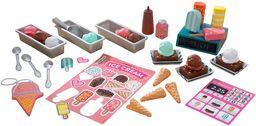 KidKraft 53539 lodowy zestaw do zabawy z drewnianymi zabawkami z lodami, 20 sztuk w zestawie