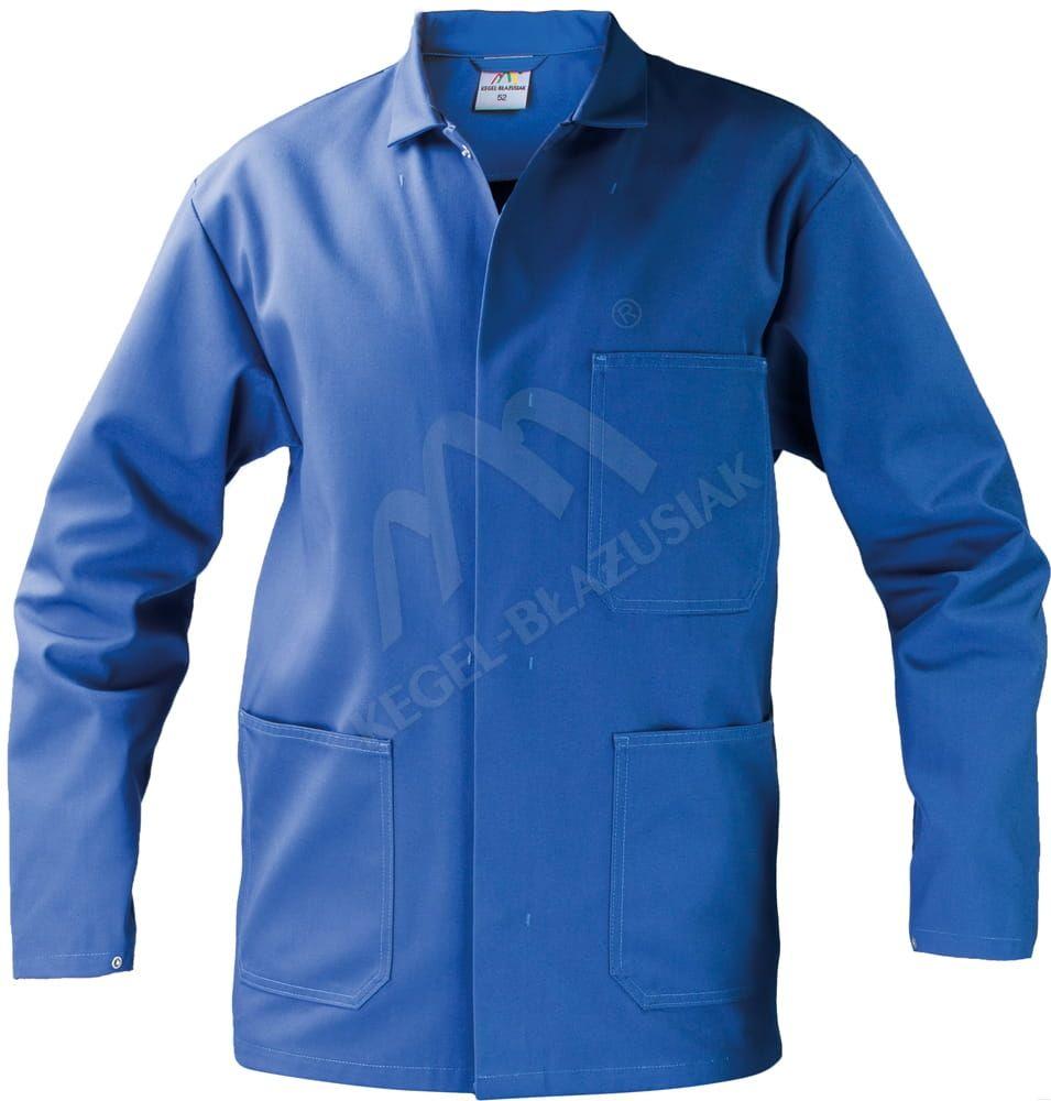 Długa bluza męska medyczna, niebieska