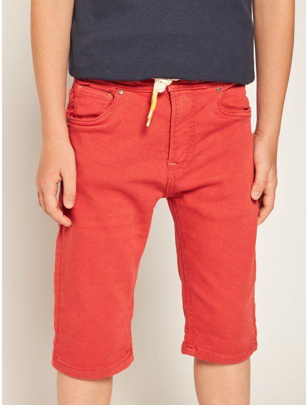 Pepe Jeans Szorty materiałowe Joe PB800498 Pomarańczowy Regular Fit