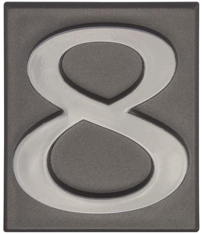 Cyfra 8 wys. 5 cm PVC grafitowa