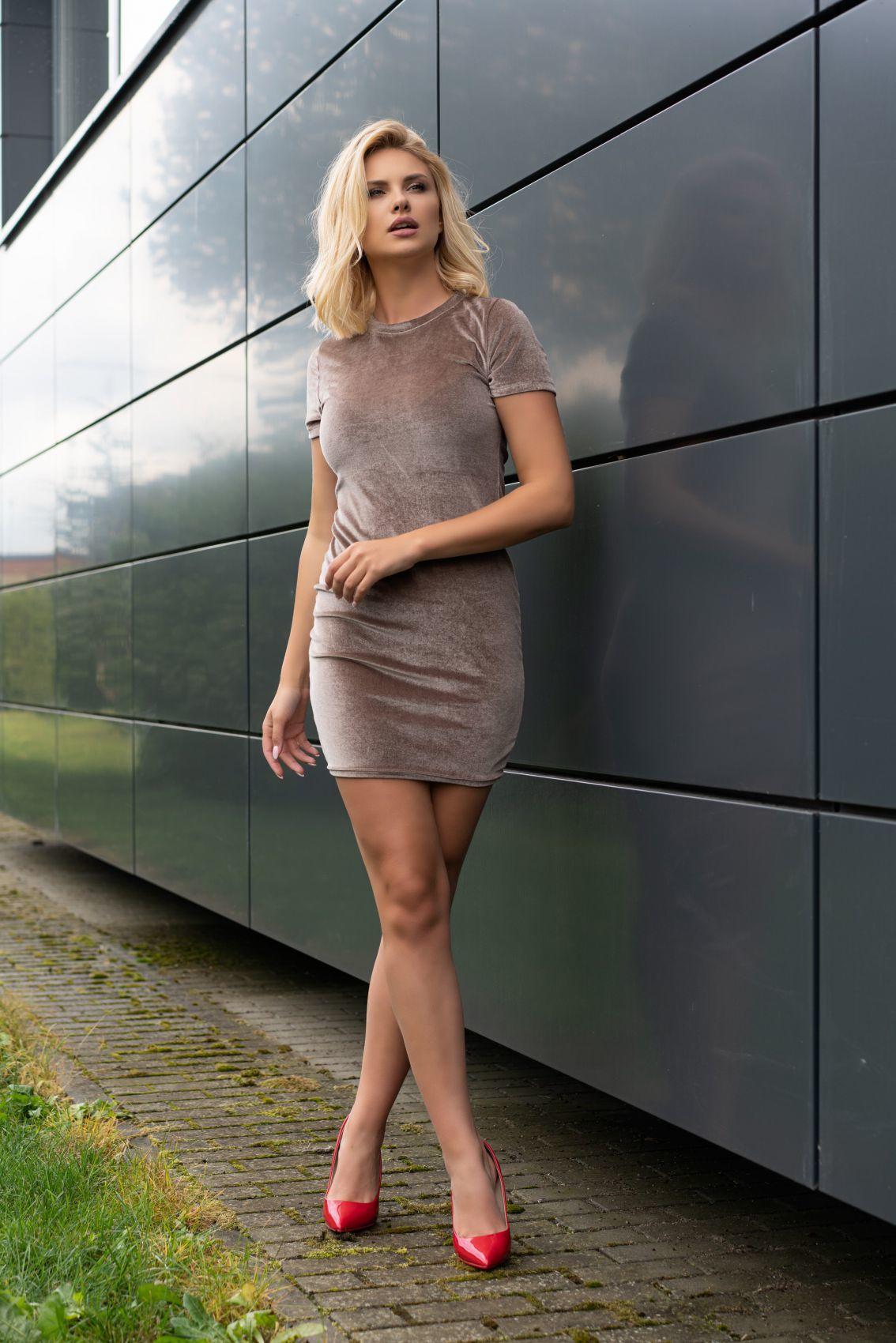 Marensa Beige 1712 sukienka