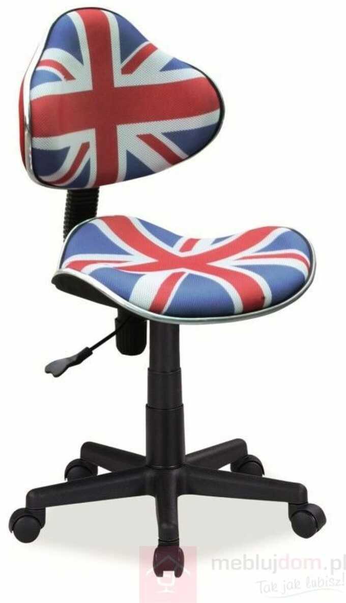 KUPON 10% NA STRONIE  Fotel obrotowy Q-G2 Signal tkanina membranowa Flaga UK