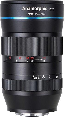 Obiektyw Sirui 75mm f/1.8 1,33X Anamorphic (Canon EF-M)