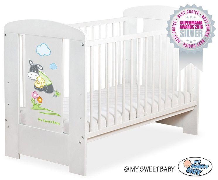 Łóżeczko drewniane Osiołek Lucek, 501107816-My Sweet Baby