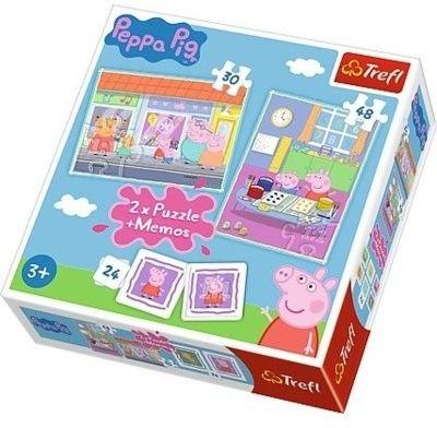 2x Puzzle + Gra memos - Dzień Peppy, Peppa''s day