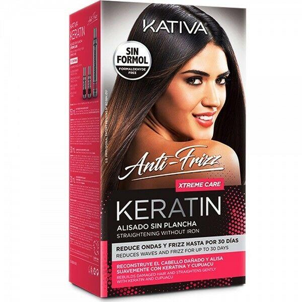 Kativa Keratin Xtreme Care Zestaw do keratynowego prostowania włosów 150+30+30ml