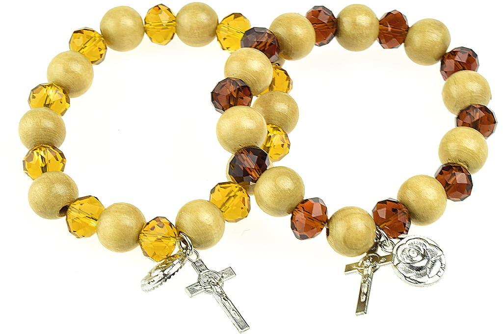 Bransoletka religijna z krzyżykiem