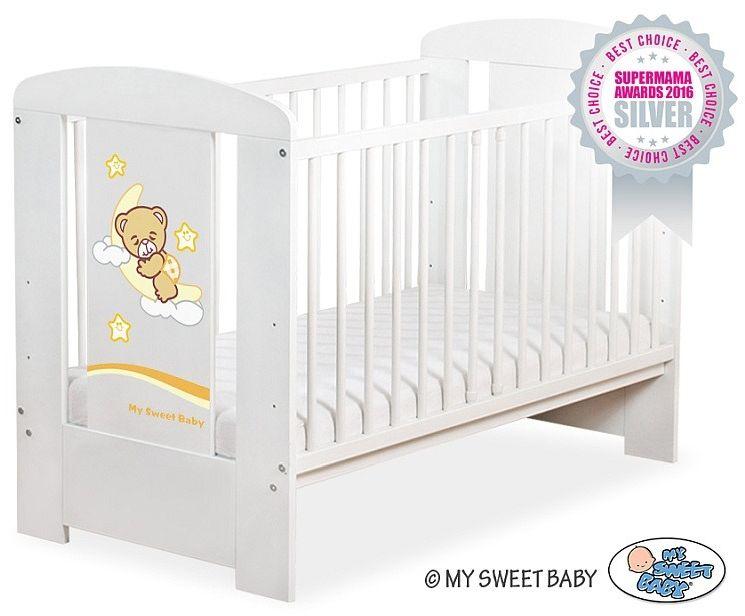 Łóżeczko drewniane Miś marzyciel, 500907810-My Sweet Baby