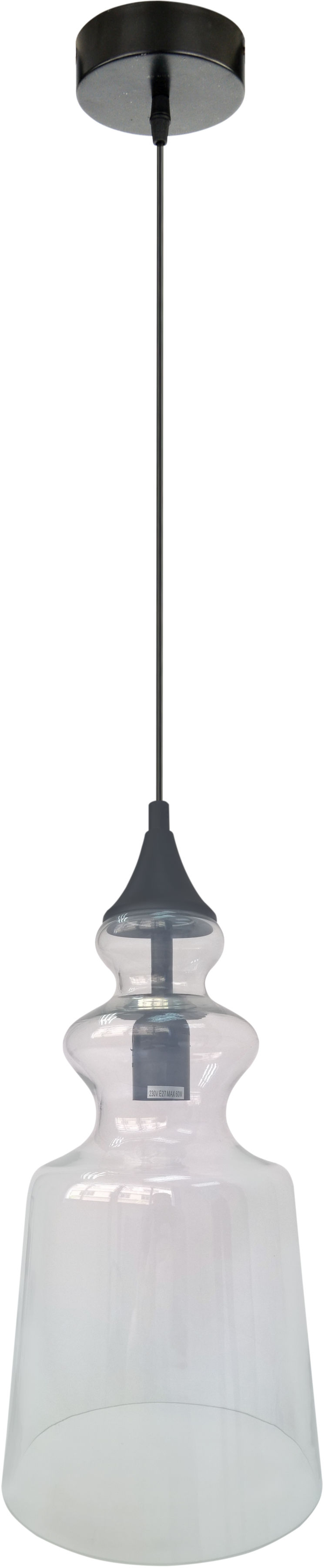 Candellux OXELO 31-51837 lampa wisząca bezbarwna 1X60W E27 20 cm