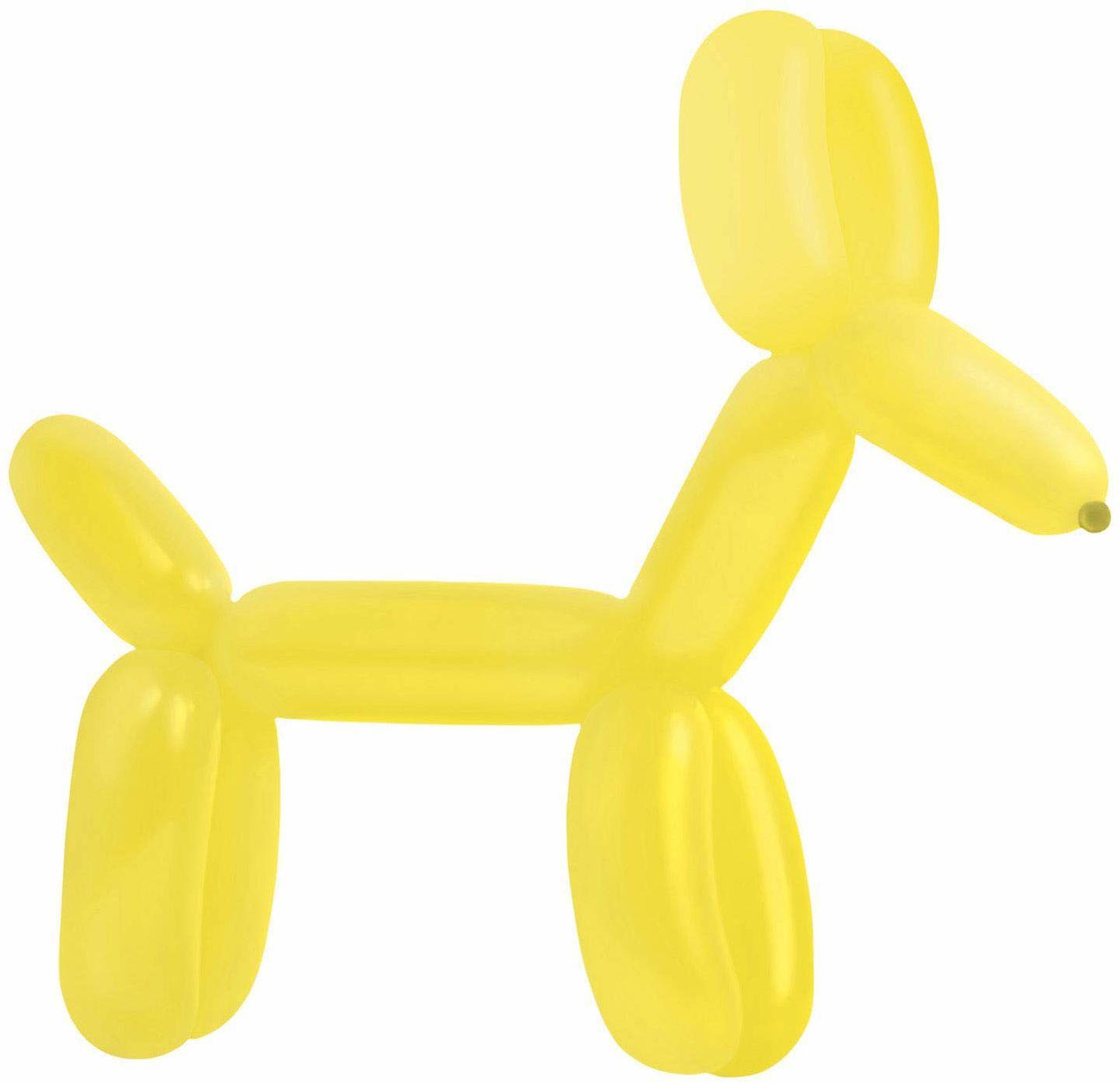 amscan 9905525 100 balony lateksowe do modelowania standard E260, żółte