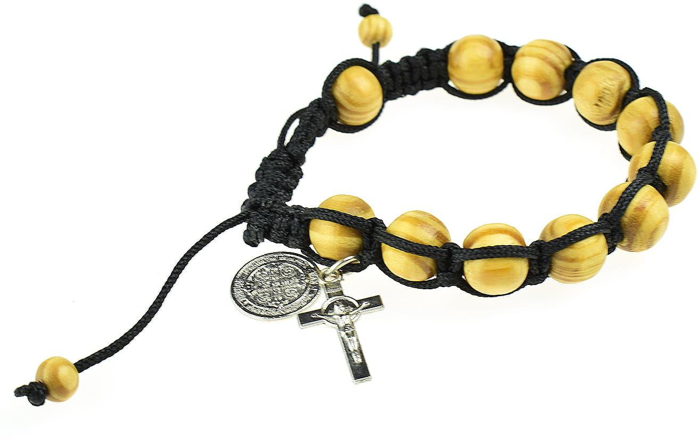 Bransoletka z krzyżykiem i św. Benedyktem