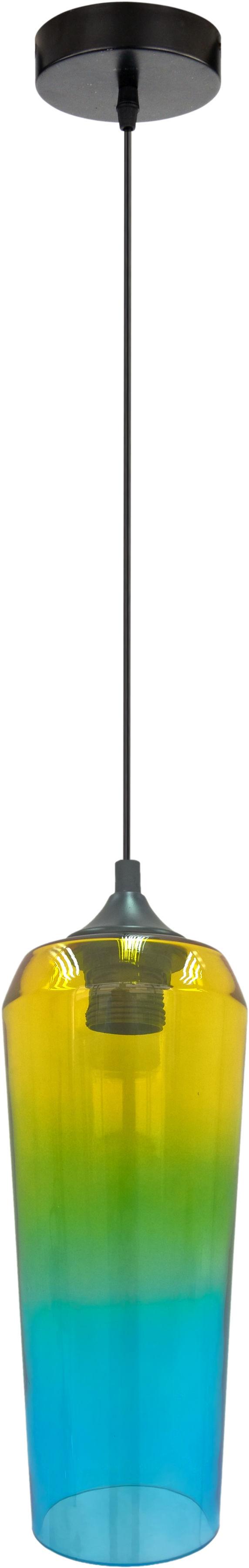 Candellux EOL 31-51844 lampa wisząca żółto/zielona 1X60W E27 11 cm