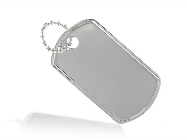 Nieśmiertelnik ze srebra pr 925 Rozmiar: 4x2.5 cm SKU: SLN001