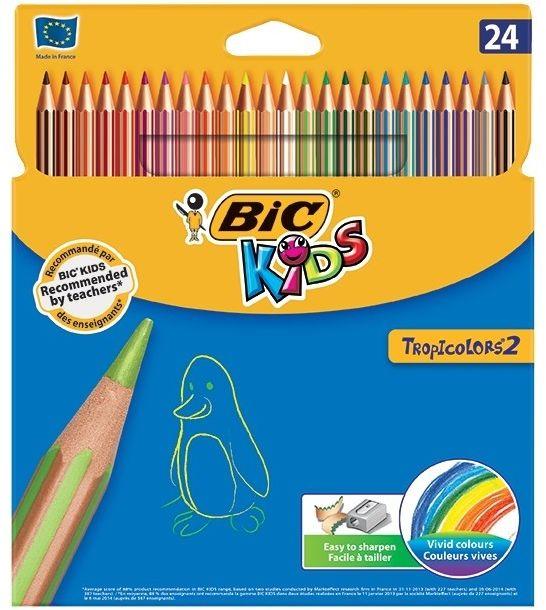 Kredki ołówkowe Bic Tropicolor 24 kolory 22510