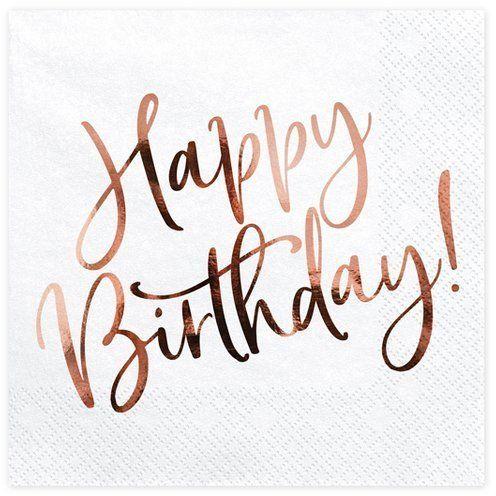 Serwetki na urodziny Happy Birthday 33 cm 20szt. SP33-79-008-019R