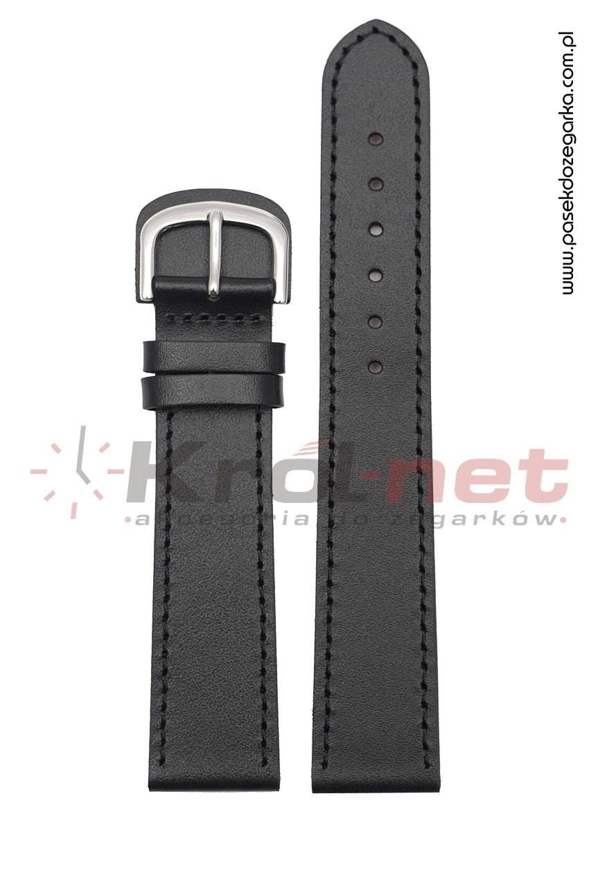 Pasek do zegarka BZ001/24, dla alergików - czarny, gładki