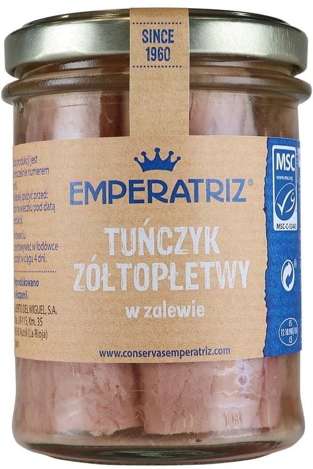 Tuńczyk żółtopłetwy filety w zalewie 200 g (140 g) (słoik) - emperatriz