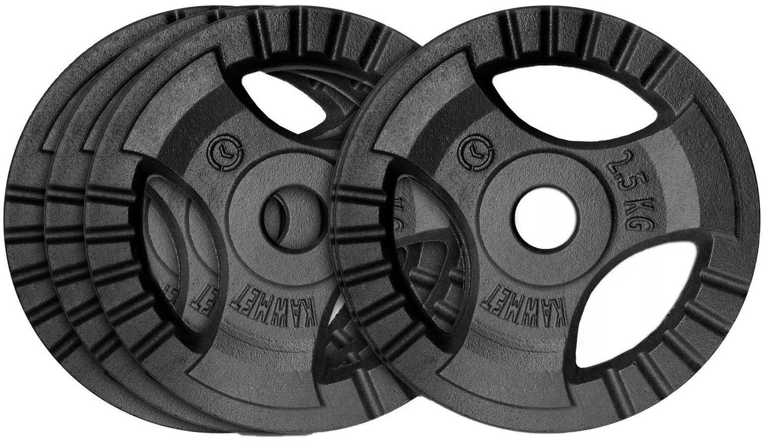 Zestaw obciążeń żeliwnych 10 kg (28,5 mm) - 4x2,5 kg