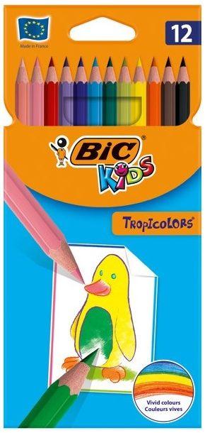 Kredki ołówkowe niełamliwe Bic Tropicolor 12k 22503
