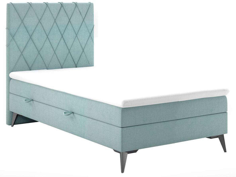 Pojedyncze łóżko jednoosobowe łóżko boxspring Tiago 80x200 - 58 kolorów